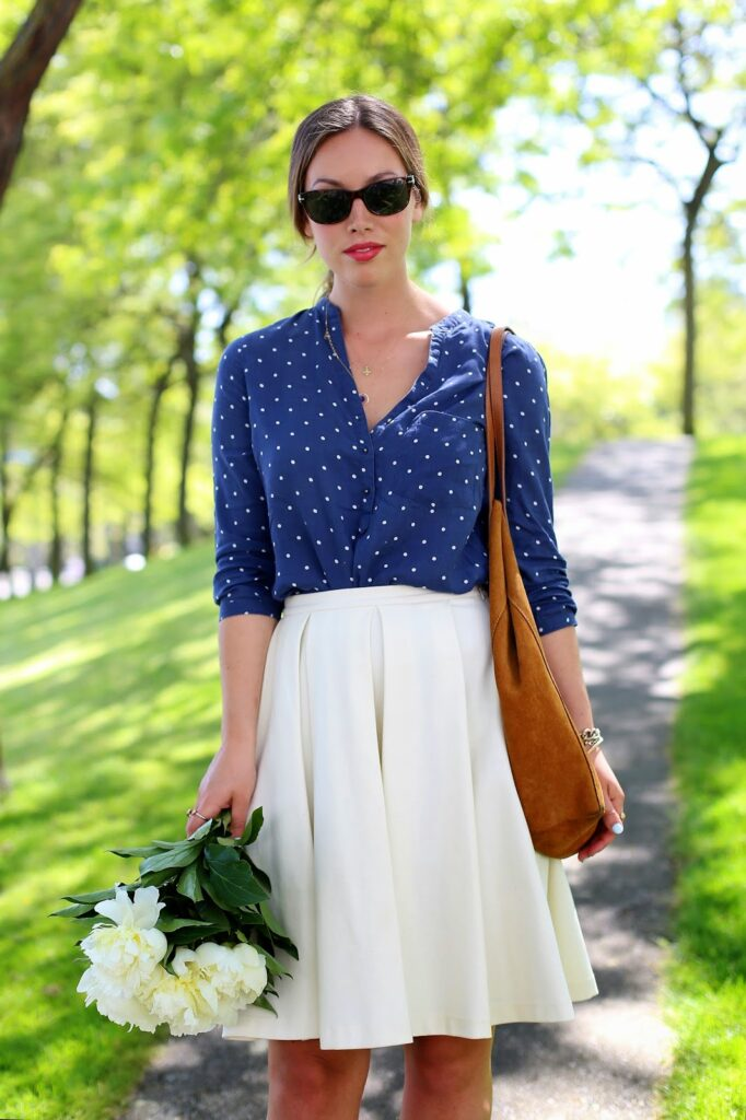 to vogue or bust, vancouver style blog, vancouver fashion blog, vancouver fashion, canadian fashion blog, alexandra grant, j.crew heels, obakki skirt, zara blouse, massimo dutti bag, persol sunglasses, keltie leanne designs jewelry, spring style, summer style, retro femme