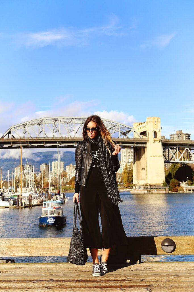 to vogue or bust, vancouver style blog, vancouver fashion blog, vancouver travel blog, canadian fashion blog, canadian style blog, canadian travel blog, alexandra grant, how to style a jumpsuit, how to wear a jumpsuit, wide leg jumpsuit, evening jumpsuits, jumpsuits and rompers, how to wear jumpsuits, holiday party outfits, holiday party ideas, office holiday party, what to wear to an office party, holiday party dresses, zara jumpsuit, j.crew heels, club monaco sequin clutch, olive and piper necklace, holiday party attire, silver statement necklace, how to wear statement necklace, day to night styling, top fashion blogs, top style blogs, best fashion blogs, best style blogs, how to make a blog, how to start a blog