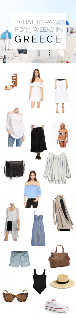 What to pack for Greece: your 3 week printable packing list