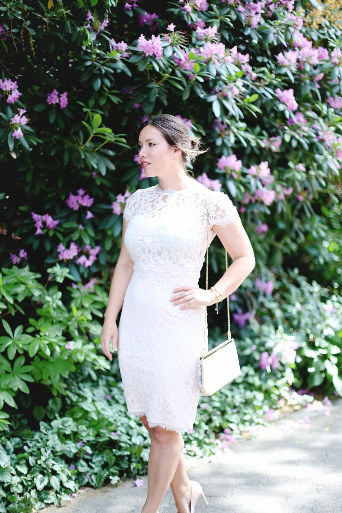 David's Bridal wedding guest dress