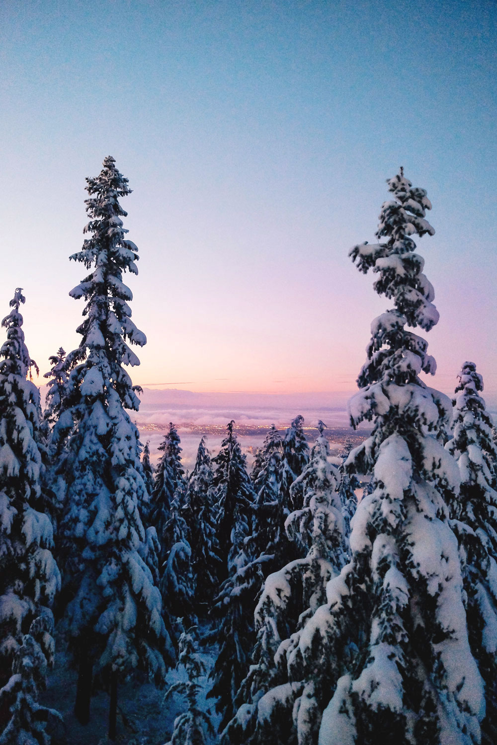 Things to do in Vancouver at Christmas - Grouse Mountain Peak of Christmas ice skating, snowshoeing and skiing