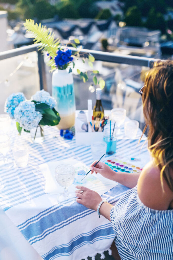 Tips for hosting a watercoloring party by To Vogue or Bust