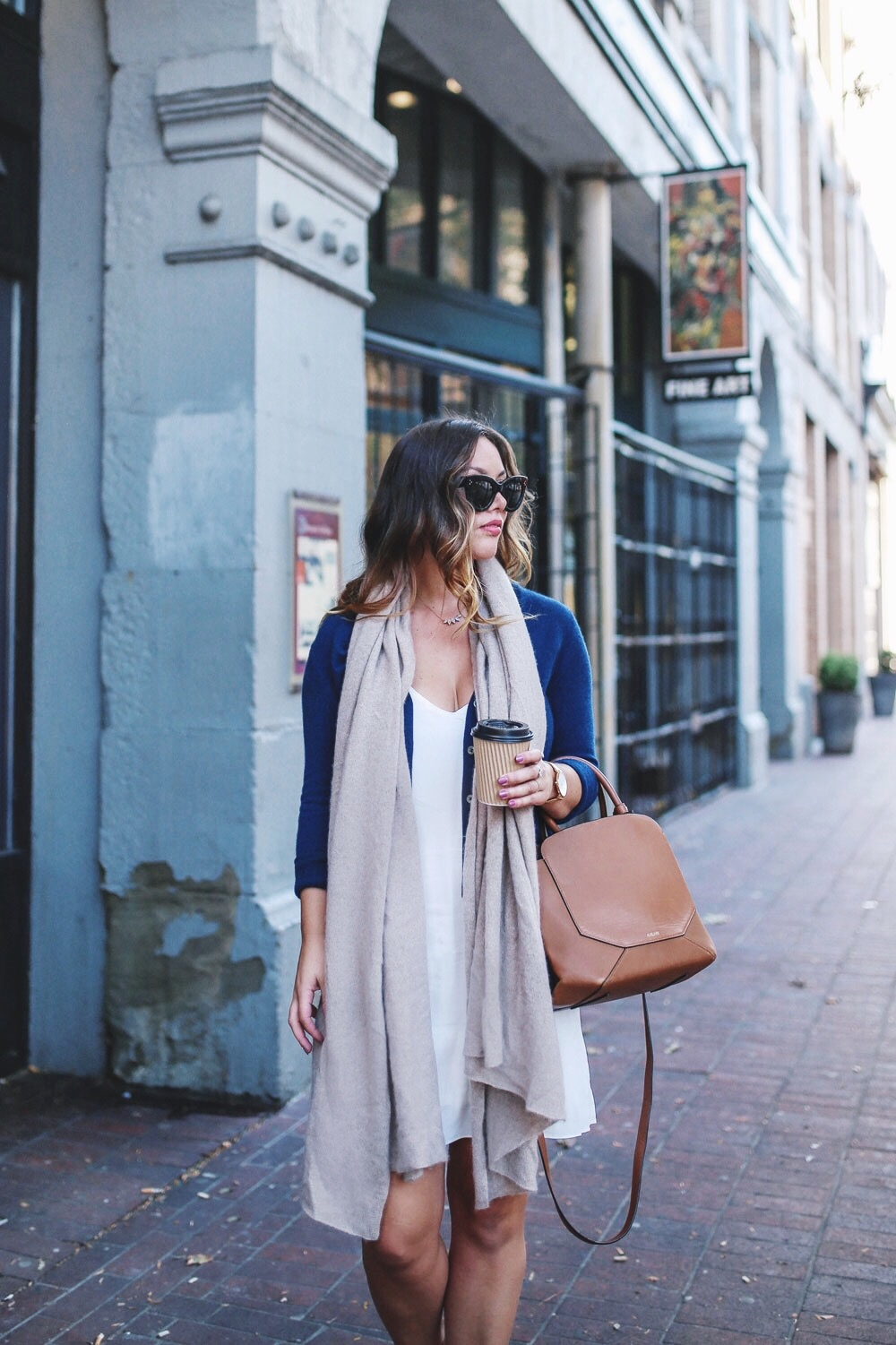 Aritzia camisole dress fall transition style by To Vogue or Bust