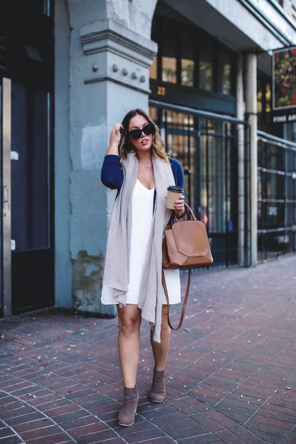 How to style a slip dress for fall by To Vogue or Bust