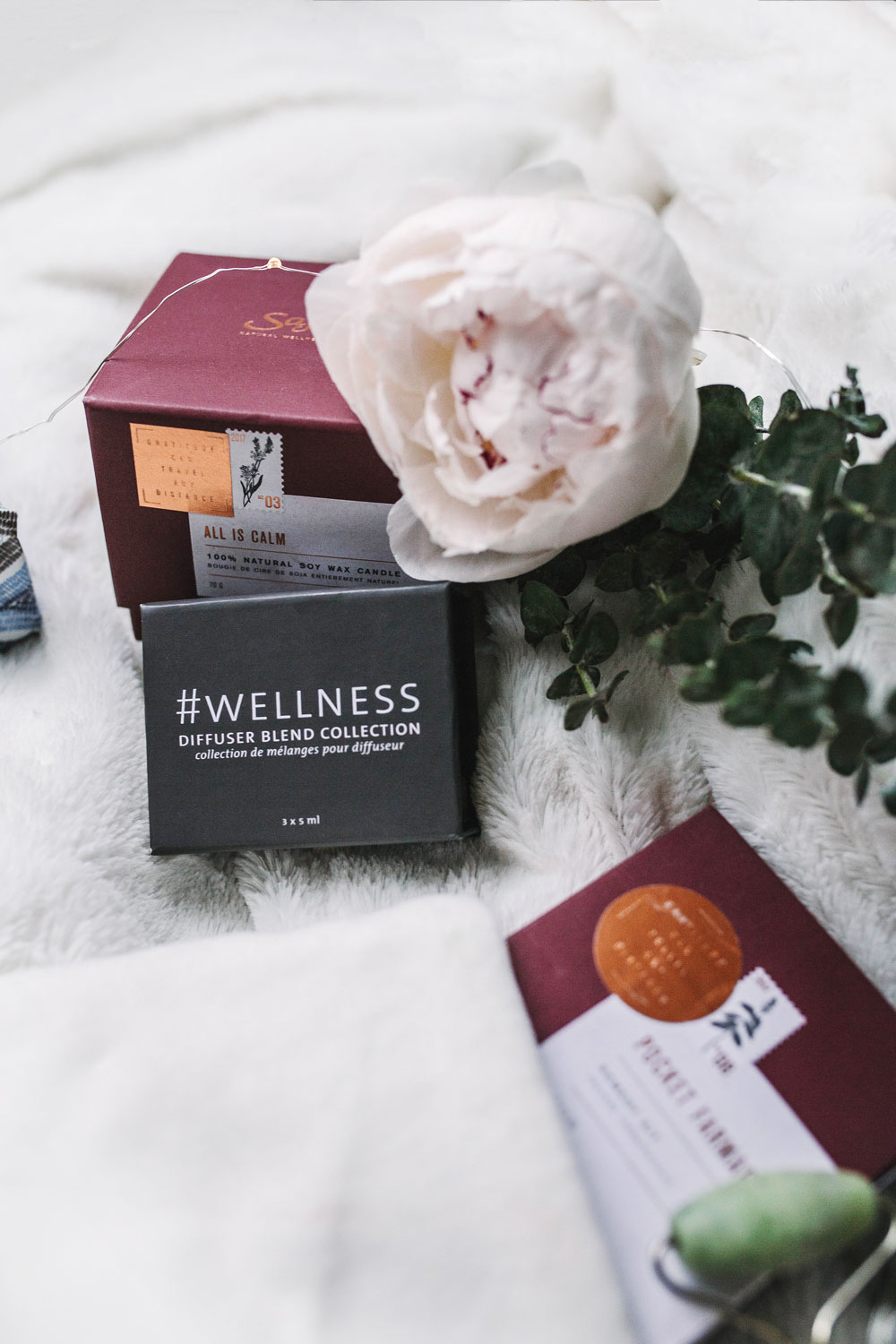 Best wellness gift guide saje wellness candle by To Vogue or Bust