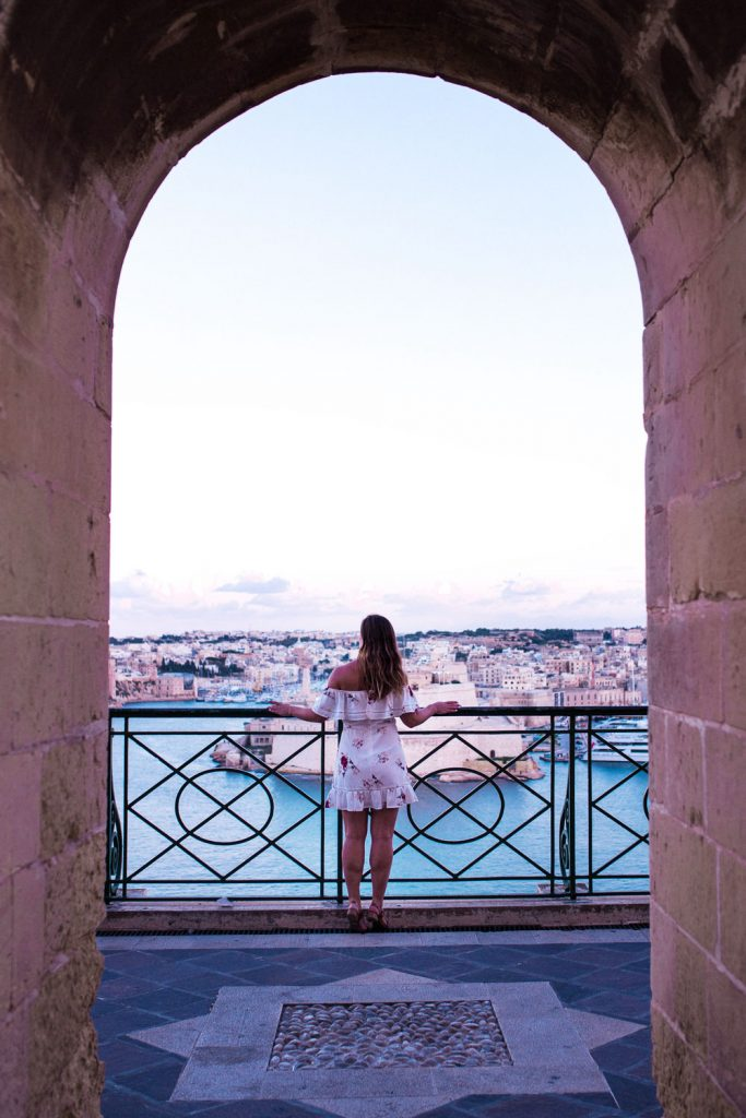 where to watch the sunset in valletta by To Vogue or Bust