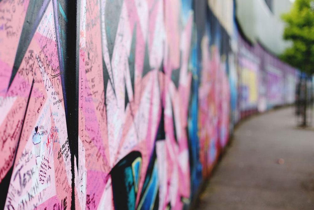 Graffiti wall Belfast