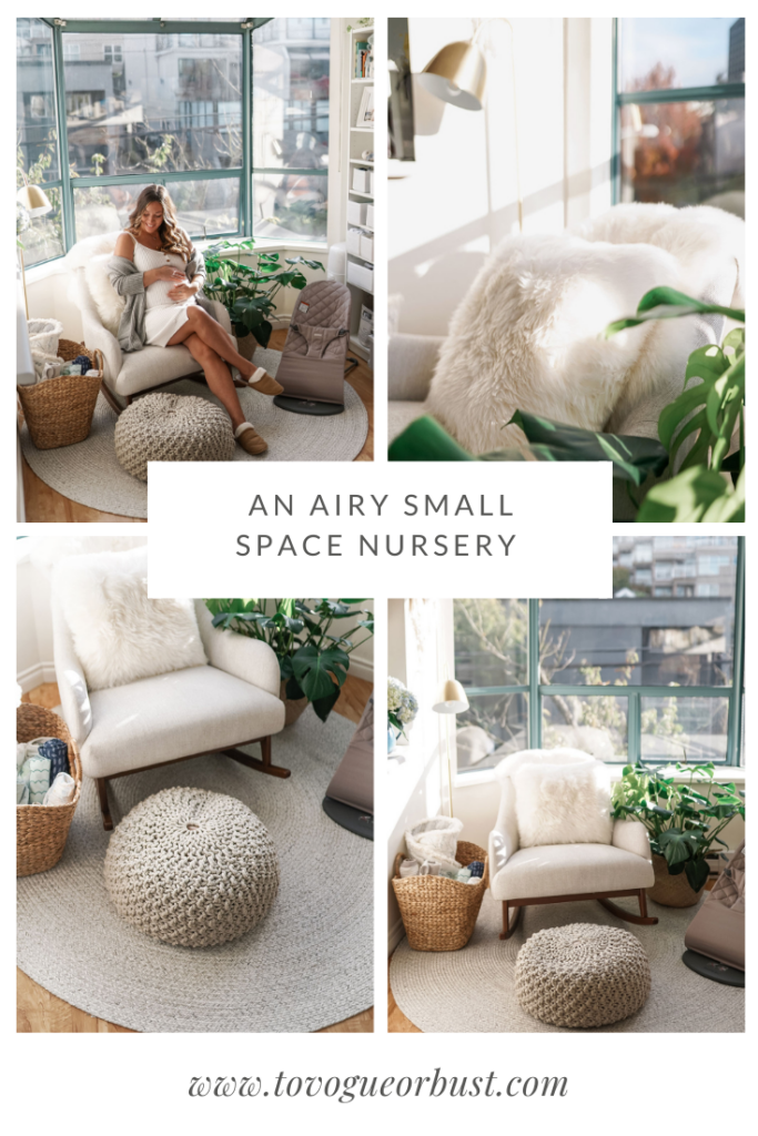 An airy small space nursery