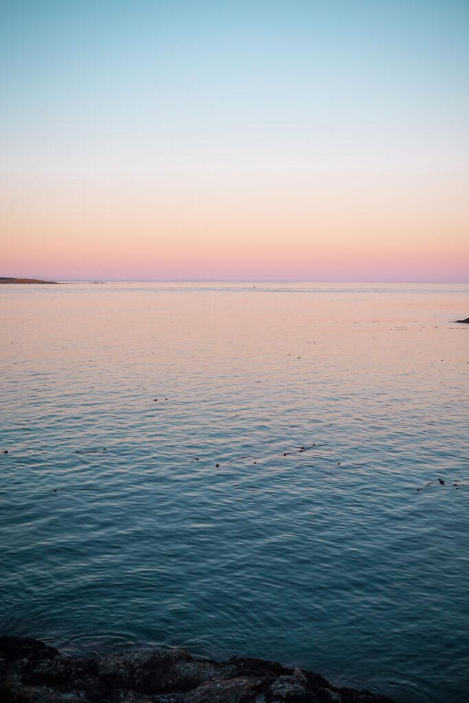 sunset in victoria canada